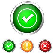 Validation icon Stock Illustration