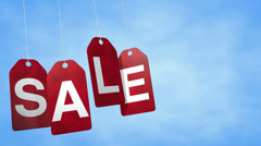 Sale Tags Loop Stock Footage
