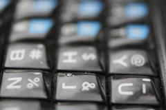 QWERTY phone keys macro - stock photo