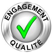 Stock Illustration of icône engagement qualité