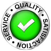 quality,satisfaction,service - stock illustration