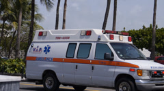 AMBULANCE rushing to emergency - stock footage