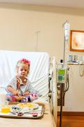 Hospitalized girl Stock Photos