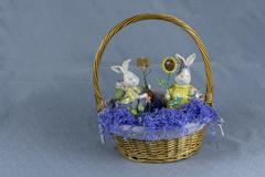 easter basket 3 - stock photo