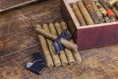 Cigar layout Stock Photos
