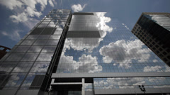 Fan Pier Boston building with clouds - stock footage