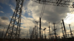 Elestrical Substation Pan Stock Footage