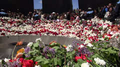 Genocide Remembrance Day, Armenia, news footage Stock Footage