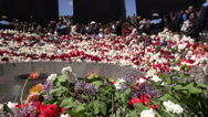 Stock Video Footage of Genocide Remembrance Day, Armenia, news footage