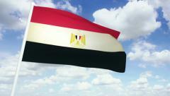Flag Egypt 02 Stock Footage