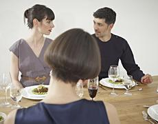 Stock Photo of Germany, Cologne, Man and women having dinner