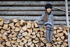 Stock Photo of Germany, Huglfing, Girl smiling, portrait