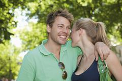 Stock Photo of Germany, North Rhine Westphalia, Duesseldorf, Couple smiling