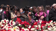 Stock Video Footage of Mother holds child at Genocide Memorial, Yerevan