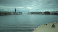 Stock Video Footage of Binnenalster Lake in Hamburg