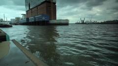 Lbphilharmonie building Hamburg Stock Footage