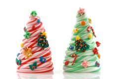 candy christmas trees - stock photo
