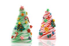 christmas candy trees - stock photo