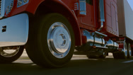 Stock Video Footage of 18 Wheel Truck.