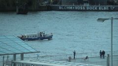 Elbe River in Hamburg Stock Footage