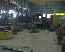 Stock Video Footage of Heavy Engineering Dragline Fabrication PAL