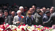 Stock Video Footage of Laying flowers during Genocide Memorial Day, Yerevan, Armenia