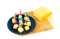 Cheese for a child party Stock Photos