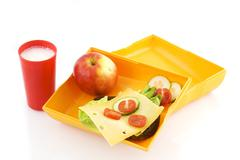 healthy lunchbox - stock photo