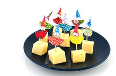 Cheese for childparty Stock Photos