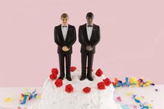 grooms wedding - stock photo