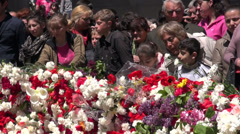 Yerevan, remembering the Armenian genocide, news footage - stock footage