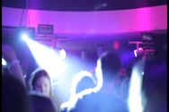 Stock Video Footage of Grooving people on the dance floor in night club, click for HD