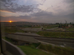 POV from a train window Stock Footage