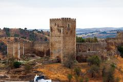 Fortified stone tower Stock Photos