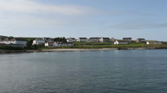 Port Charlotte waterfront Isle of Islay Scotland Stock Footage
