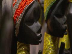 African curios Stock Footage