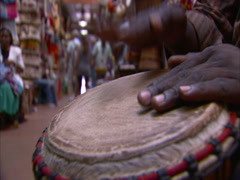 Djembe drum Stock Footage
