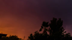 HD 30p ti Dramatic sunset colored sky day to night powerful lightning time lapse Stock Footage