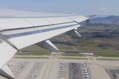 Kreikka, Lentokone lentoon Ateenan lentokentälle Kuvituskuvat