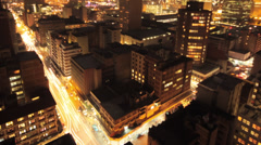Johannesburg at night Stock Footage