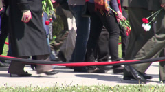 Walking towards Genocide Monument in Yerevan - stock footage