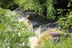 Stock Photo of United Kingdom, Northern Ireland, County Antrim, View of Glenariff River in