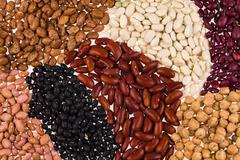 Assorted beans Stock Photos