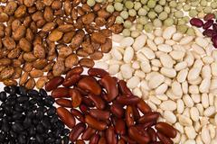 assorted beans - stock photo