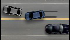Car accident top view, road street traffic crash, click for HD Stock Footage