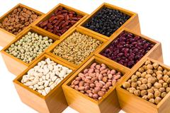 boxes of beans - stock photo
