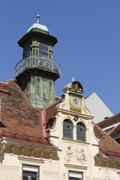 Austria, Styria, Graz, View of Glockenspiel house Stock Photos