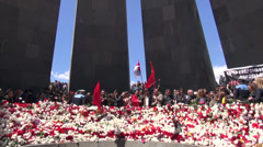 Genocide Remembrance Day, Armenia Stock Footage