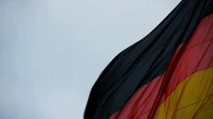 HD1080p50 German flag Stock Footage