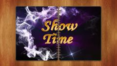02 showtime blue book - stock footage